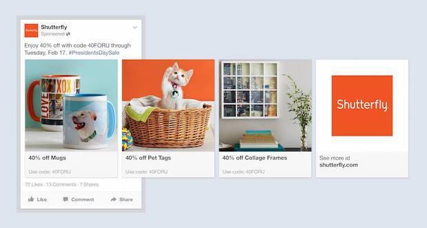 Динамические товарные объявления Facebook