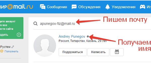 3 способа узнать имя владельца адреса электронной почты