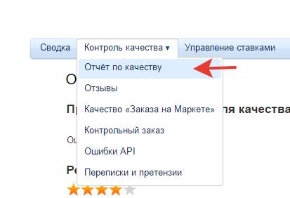 Отчет по качеству Яндекс Маркет